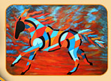 abstract horse art sundancer horse art