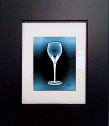 Blue Deco Wine Glass