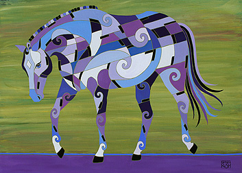 Harmony Musical Horse Painting
