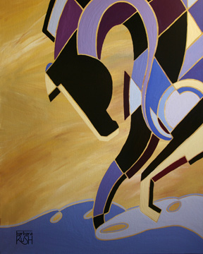 The Elegance of Equus at Sunset Painting