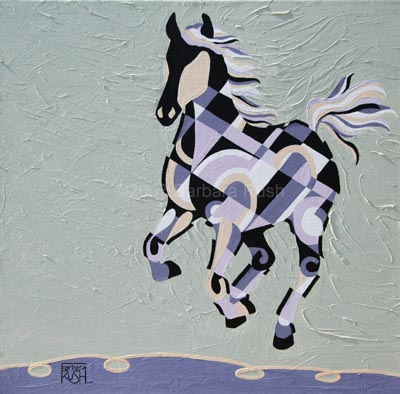 The Tao of Joy, Contemporary Equine Art Painting
