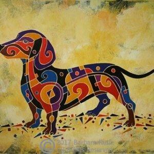 dachshund painting