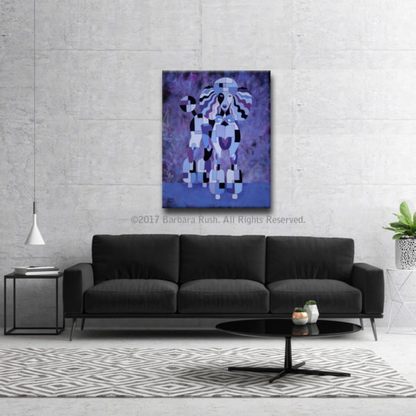 Purple Poodle Painting