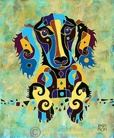 Long Haired Dachshund by Barbara Rush