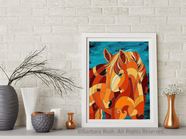 The Tao of Clarity Chestnut Horse Painting