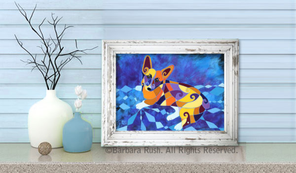 delightfully cute corgi Art