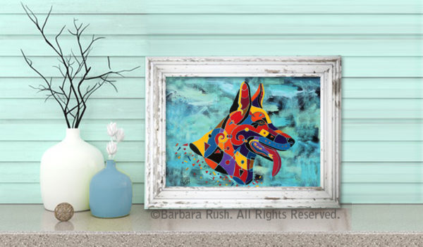 Display idea for German Shepard print