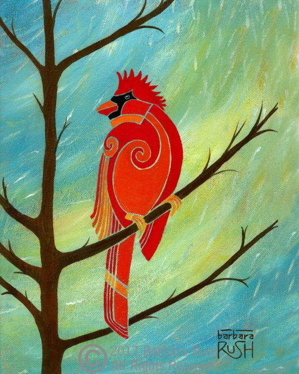 Contemporary Cardinal Art