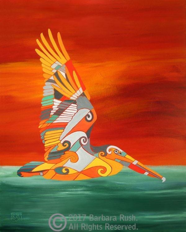 Contemporary Pelican Art