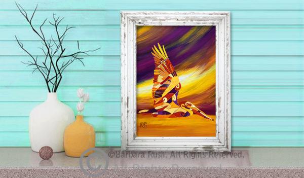 Colorful Contemporary Pelican Art