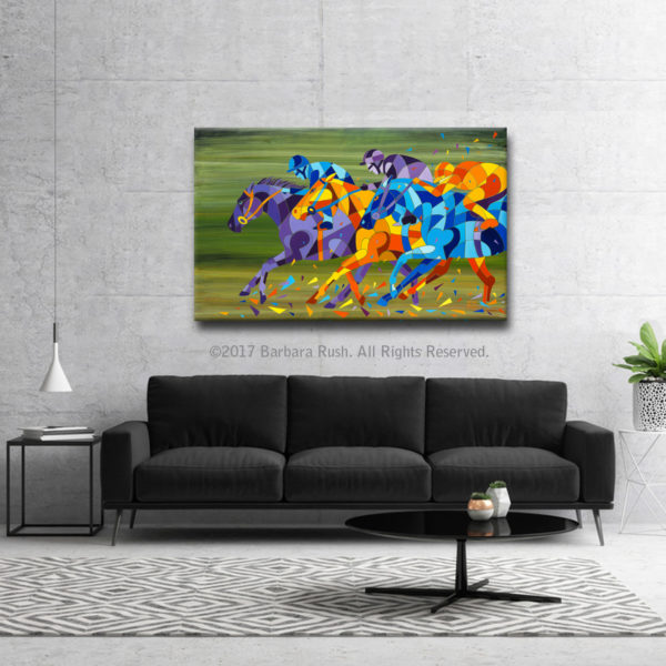 Horse Racing Art In Room