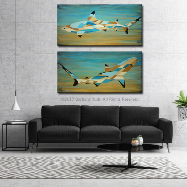 Into the Blue Shark Paintings