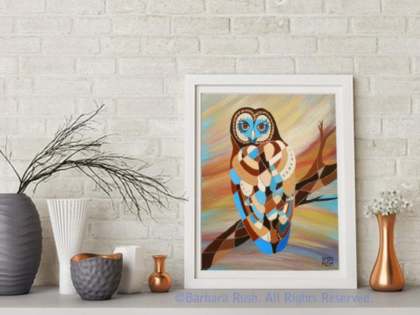 Soul Gazer Owl Art