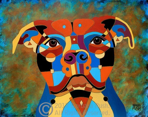 Contemporary Pit Bull Art