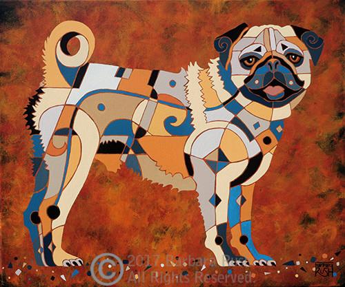 Contemporary Pug Art