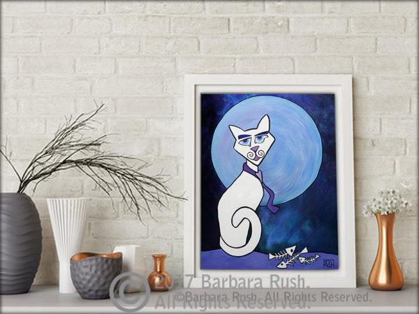 Romeo the Blued Eyed Cat