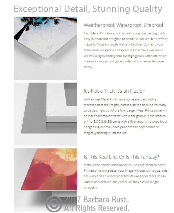 Metal Print Info