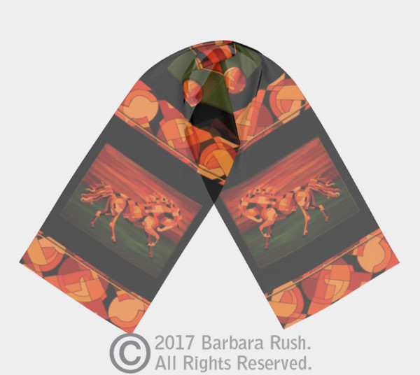 Running with Fire - Chestnut Horse Scarf