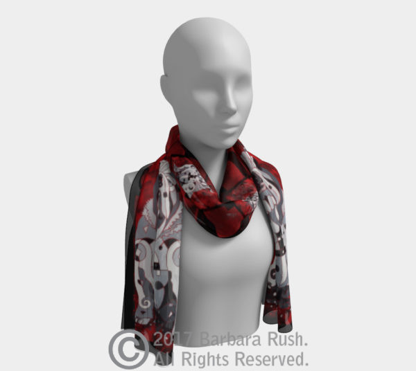 English Bull Dog Long Scarf