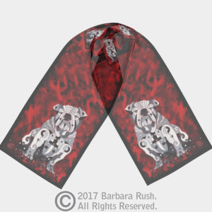 GA Bull Dog Scarf Long