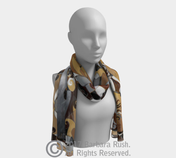 Brown and Grey Horse Scarf