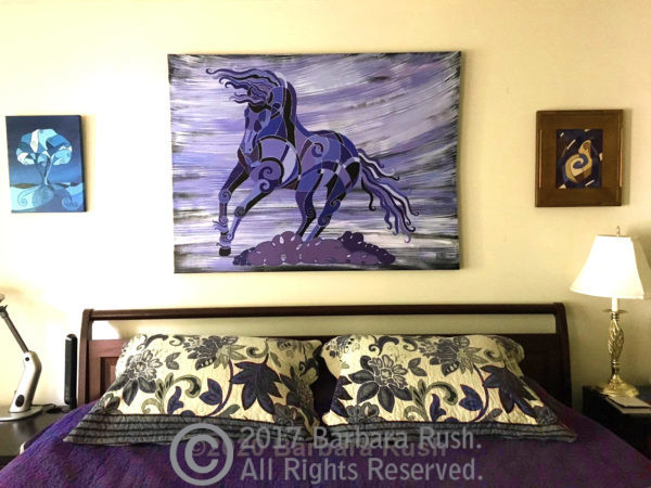 Friesian Horse Painting Abstract