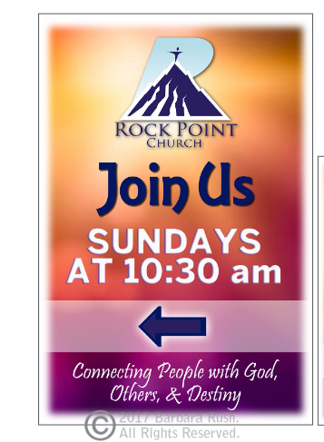 RockPoint Church A Frame Sign